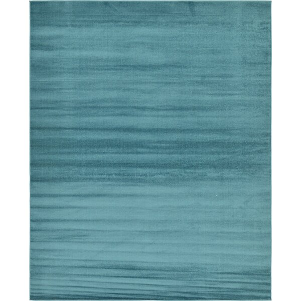 Bayswater Teal Area Rug by Mercury Row
