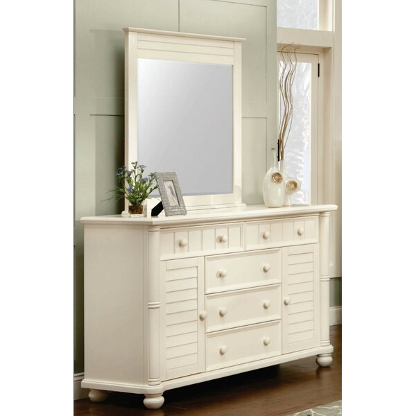 Coyer 5 Drawer Combo Dresser with Mirror by Rosecliff Heights