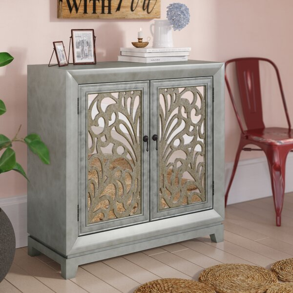 Kennell 2 Door Mirrored Accent Cabinet