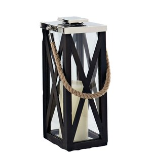 Driftwood Cross Wood Frame Lantern