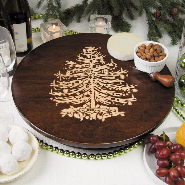 Vintage Christmas Tree Lazy Susan by Martins Homewares