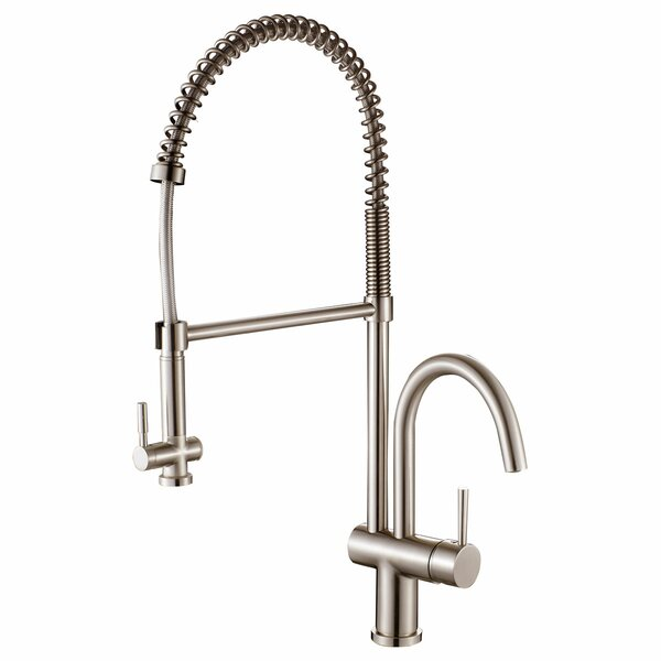 Spring-Type Pull Out Single Handle Kitchen Faucet by LessCare