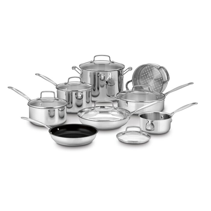 Cuisinart 14-Piece Stainless Steel Cookware Set