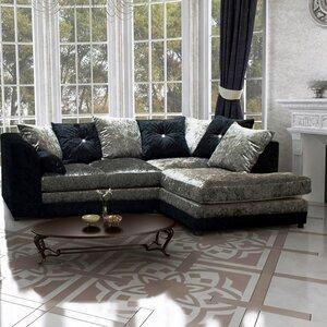 Zinc Velvet 4 Seater Corner Sofa