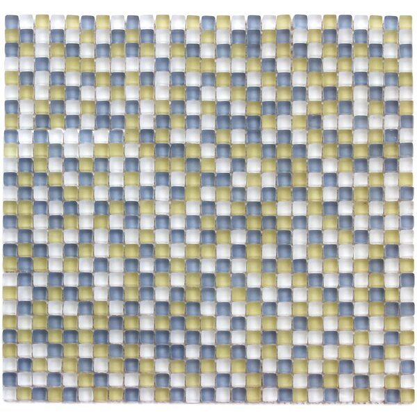Atlantis 0.25 x 0.25 Glass Mosaic Tile in Capri Yellow/Blue by Solistone