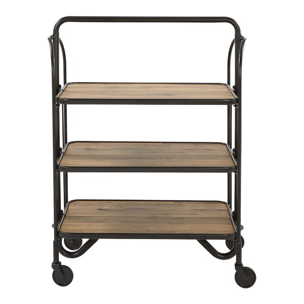 Gilmour Folding Bar Cart by Gracie Oaks