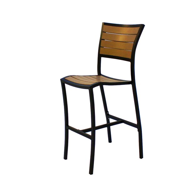Bristol 30 Teak Patio Bar Stool by Source Contract