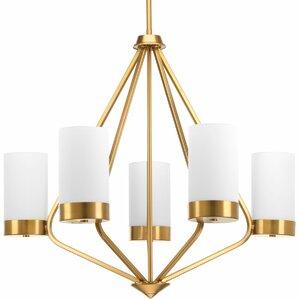 kieron 5light shaded chandelier