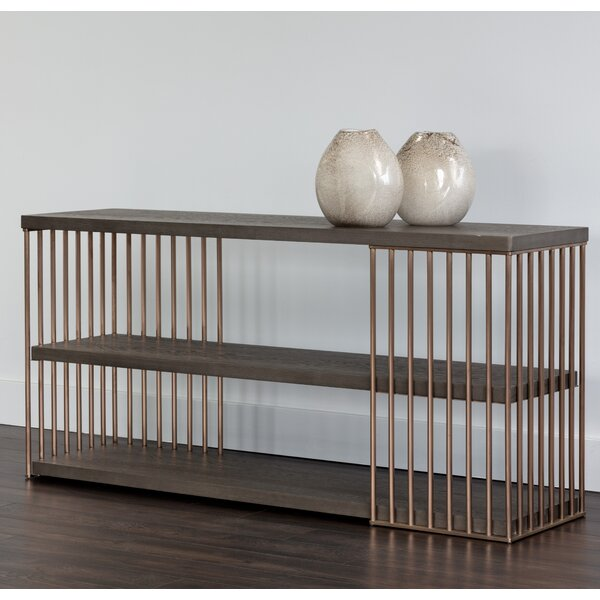 Daphane Smoked Console Table by Sunpan Modern