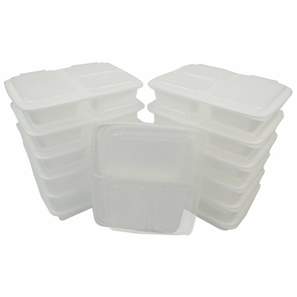 Lunch Boxes 36 Oz Food Storage Container (Set of 150) by Rebrilliant