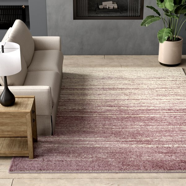 Connie Purple/Cream Area Rug by Greyleigh