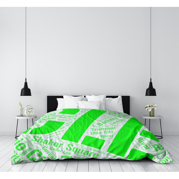 Cleveland Ohio Districts Single Reversible Duvet Cover