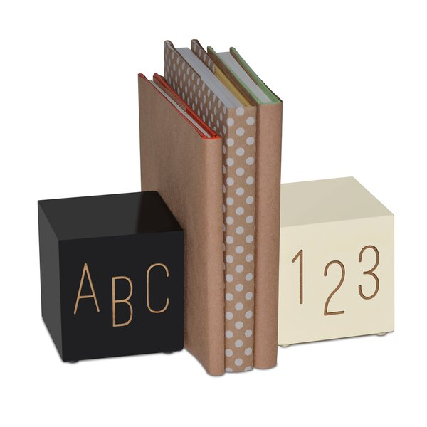 Personalized ABC 123 Bookends (Set of 2) by Harriet Bee