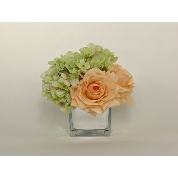 Artificial Silk Mixed Floral Arrangement in Decorative Vase by Winston Porter