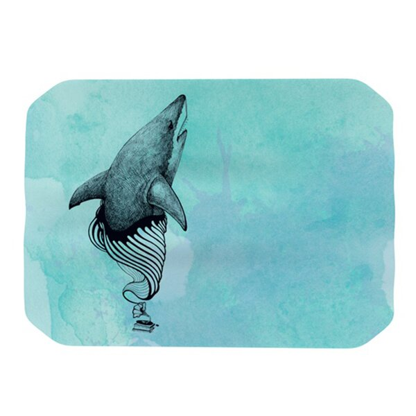 Shark Record III Placemat by KESS InHouse