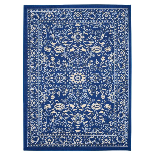 Anne Oriental Mahal Blue Area Rug by Diagona Designs