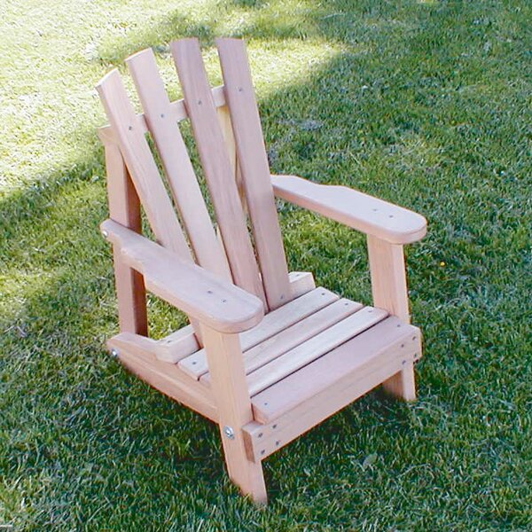 Cedar Furniture and Accessories Child Solid Wood Adirondack Chair by Creekvine Designs