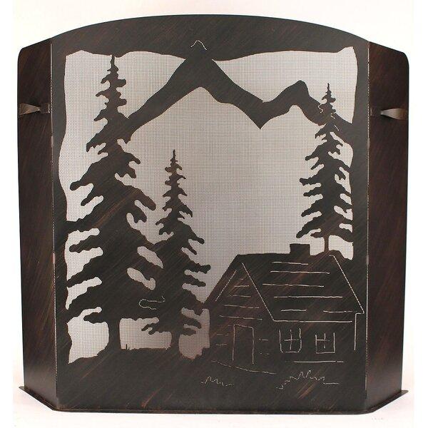 Giselle Cabin 3 Panel Steel Fireplace Screen by Loon Peak