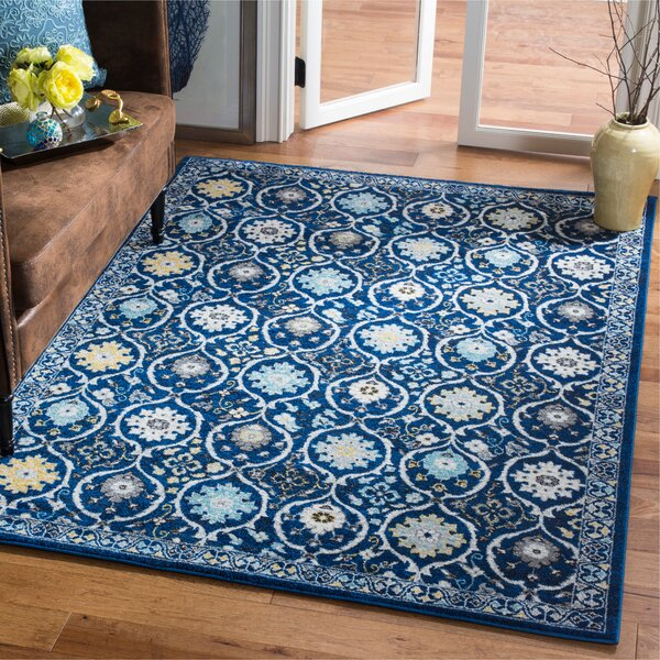 Pike Navy/Ivory Area Rug by Charlton Home