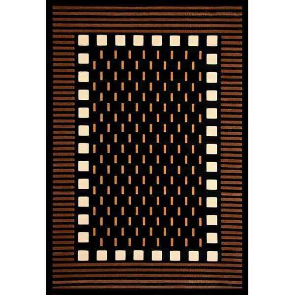 Colesville Chocolate/Black Area Rug by Ivy Bronx