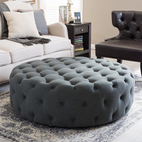 Wadley Cocktail Ottoman by Three Posts