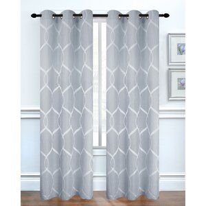 Middlebury Geometric Room Darkening Grommet Curtain Panels