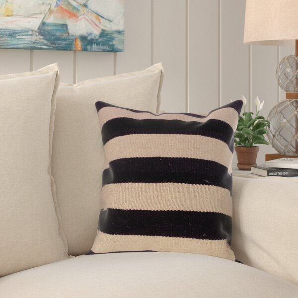 Bakerstown Hand-Woven Kilim Wool Throw Pillow by Breakwater Bay