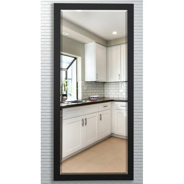 Beveled Satin black Wall Mirror by Darby Home Co