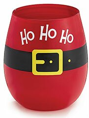 Ho Ho Ho 16 oz. Stemless Wine Glass (Set of 4) by burton + BURTON