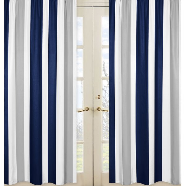 Stripe Striped Semi-Sheer Rod pocket Curtain Panels (Set of 2) by Sweet Jojo Designs