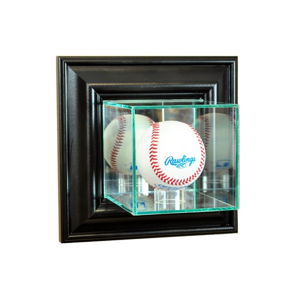 Wall Mounted Baseball Display Case by Perfect Cases and Frames