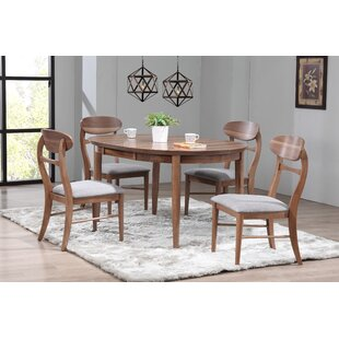 Chau 5 Piece Solid Wood Dining Set By George Oliver