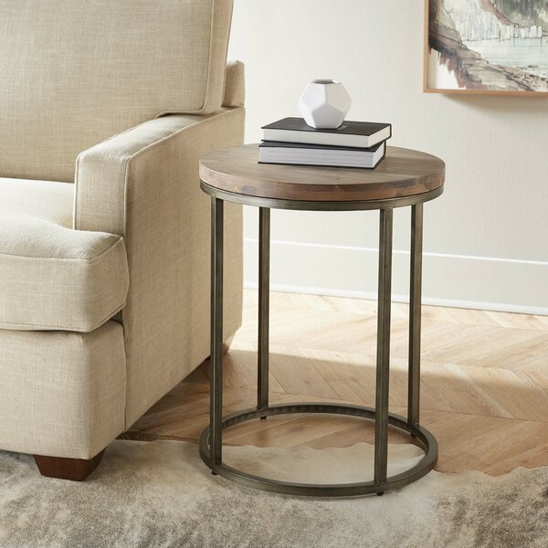 Derek Circular Sled End Table by Foundstone Foundstone