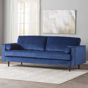 Navy Blue Velvet Sofa | Wayfair
