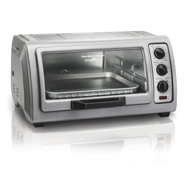 0.36 Cu. Ft. Easy Reach Toaster Oven with Roll-Top Door by Hamilton Beach