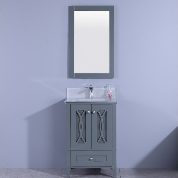 Farragutt 24 Single Bathroom Vanity Set with Mirror by House of Hampton