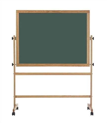 Deluxe Steel-Rite Free-Standing Reversible Chalkboard by Marsh