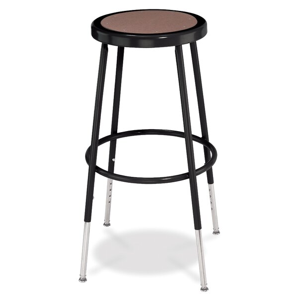 Adjustable Height Stool with Round Hardboard by National Public Seating