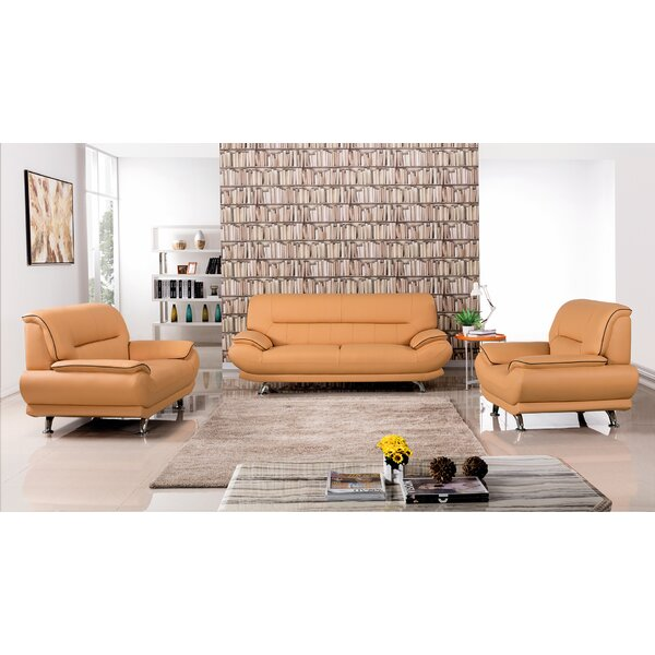 Arcadia Leather 3 Piece Living Room Set by American Eagle International Trading Inc.