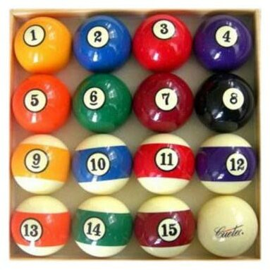 Official Billiard Ball Set by CueTec