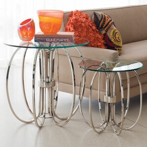 Large Oval Ring End Table by Global Views