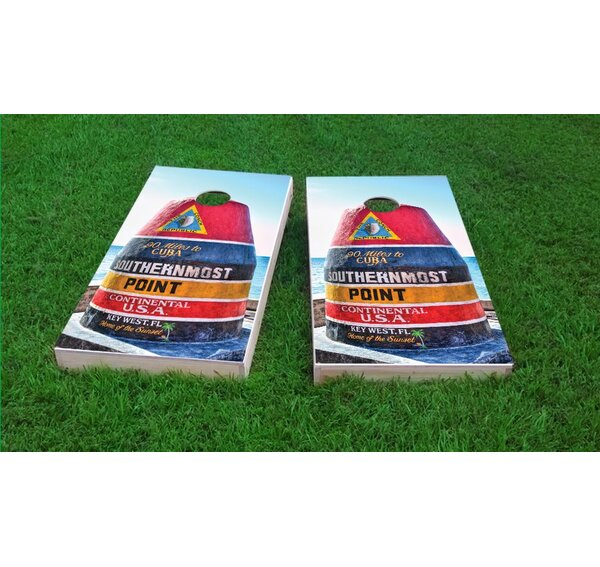 Southernmost Point Light Weight Cornhole Game Set by Custom Cornhole Boards