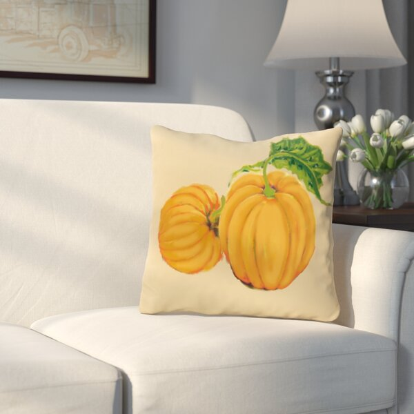 Greenmont Pumpkin Patch Holiday Outdoor Throw Pillow by Three Posts