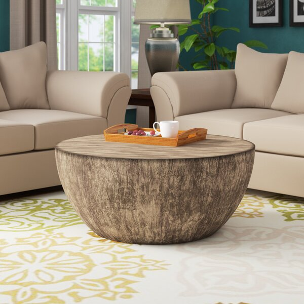 Aron Round Wood Coffee Table By Foundry Select