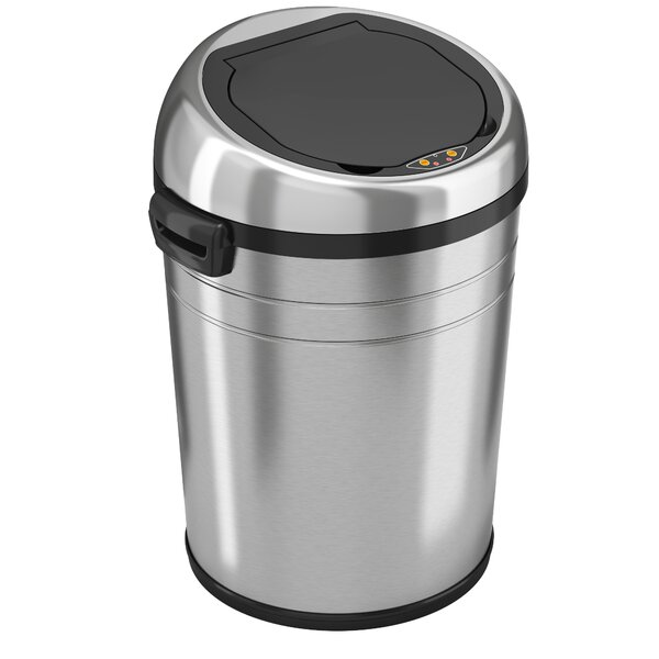 Stainless Steel 18 Gallon Motion Sensor Trash Can by Rebrilliant