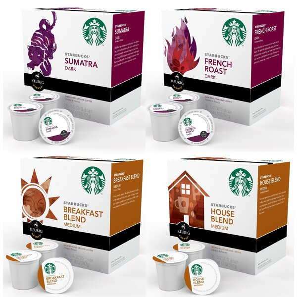 Starbucks K-Cup Variety Bundle (64 Count) by Keurig