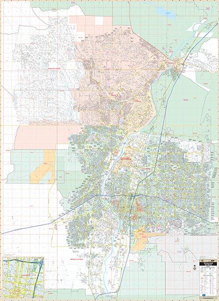 Laminated Albuquerque NM Wall Map 75.5
