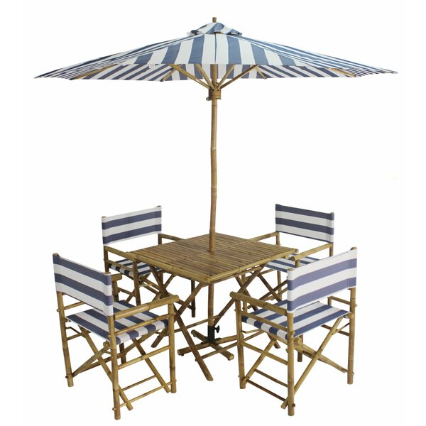 Sheila Patio 6 Piece Dining Set with Umbrella by Longshore Tides