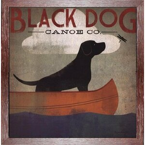'Black Dog Canoe Company' by Ryan Fowler Framed Vintage Advertisement by Buy Art For Less
