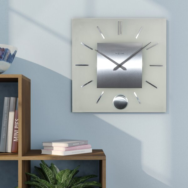 Stripe Pendulum Wall Clock by Latitude Run